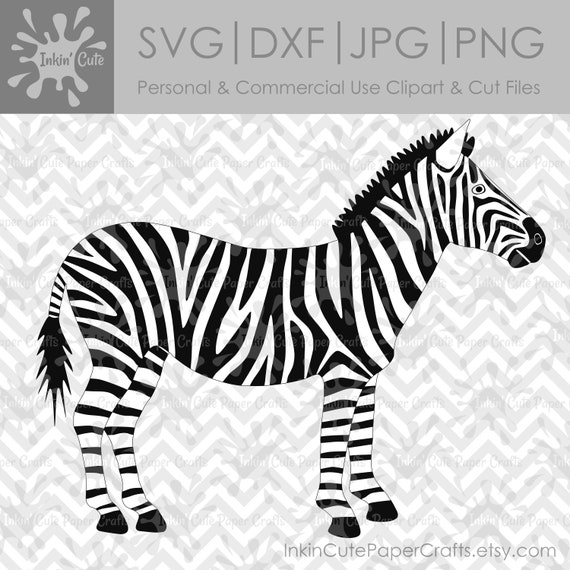 Zebra SVG-Datei Zebra Clipart Safari Zebra SVG | Etsy