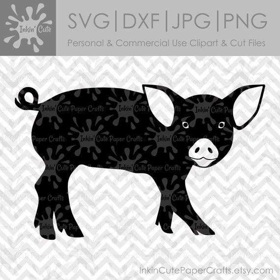 Cochon Silhouette Svg Fichiers Svg De Cochon Cochon Clipart Etsy