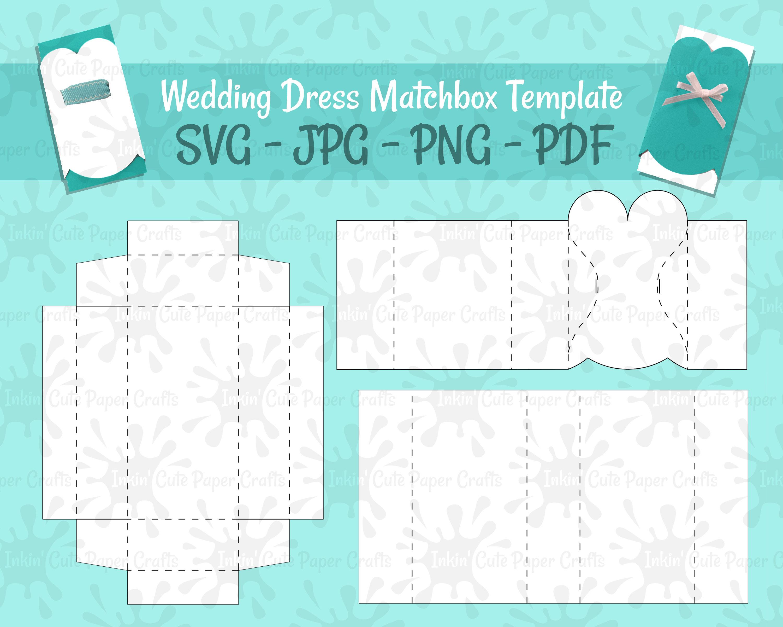 Wedding Matchbox SVG Wedding Party Matchboxes Favor Box SVG