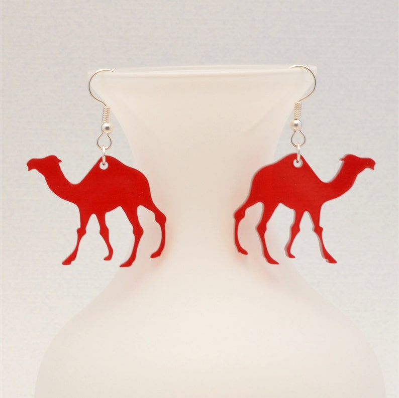 Quirky Earrings Gift for Coworker Hump Day Camel Jewelry Laser Cut Camel Earrings Wednesday Jewelry Gifts