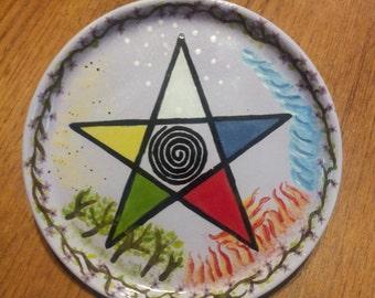 Elemental Pentacle Plate