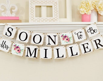 floral soon to be mrs banner floral bridal shower decorations bridal shower banner soon to be mrs bridal shower pink floral theme 10003