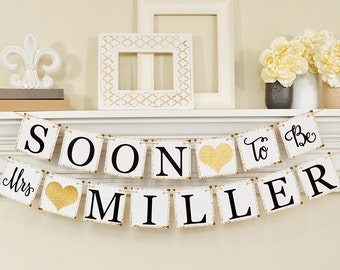 soon to be mrs banner bridal shower decorations bridal shower banner soon to be mrs bachelorette party bridal shower gold 10066