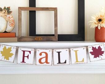 Fall Banner, Thanksgiving Banner, Thanksgiving Decoration, Fall Bunting, Thanksgiving Decor, Fall Leaves, Fall Decor, Fall Decoration Ideas