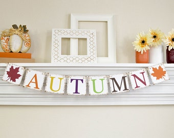 Fall Home Decor, Thanksgiving Decoration, Fall Banners, Autumn Banner, Thanksgiving Decor, Autumn Garland, Fall Bunting Banner