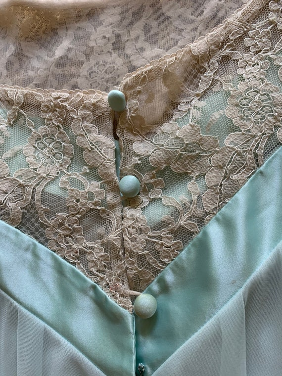 Something blue 1960s two-piece Peignoir by Lucie … - image 3