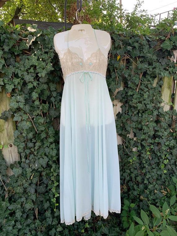 Something blue 1960s two-piece Peignoir by Lucie … - image 8