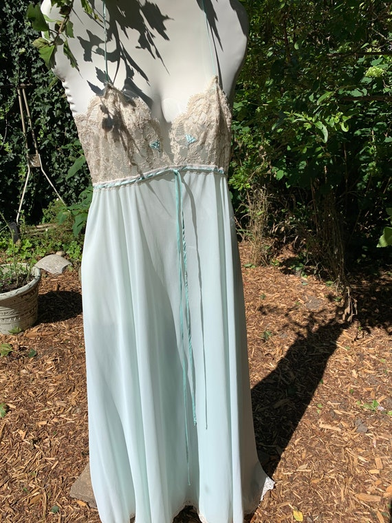 Something blue 1960s two-piece Peignoir by Lucie … - image 2