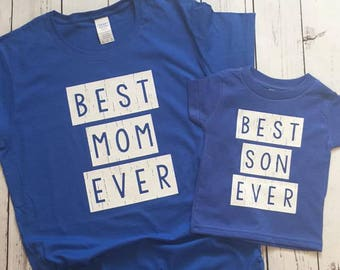 Best Mom ~ Best Son ~  Mother and Son ~ Matching Shirt Mommy and Me Outfit Mommy and Son  Shirts New Mom ~ Personalized Mom ~ Mother ~ Mama