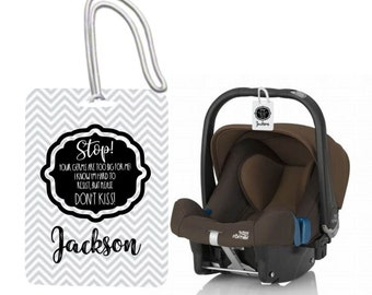 Strollers Accessories New Baby Safety Sign Please Dont Touch For Baby Newborn Stroller Tag Car Seat Sign Shower Gift Sale Overall Discount 50-70% Activity & Gear