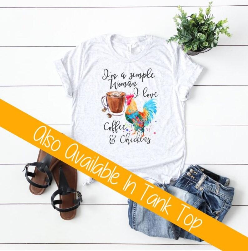 5b50cb373 Chicken Shirt Chicken and Coffee Funny Chicken Shirt | Etsy