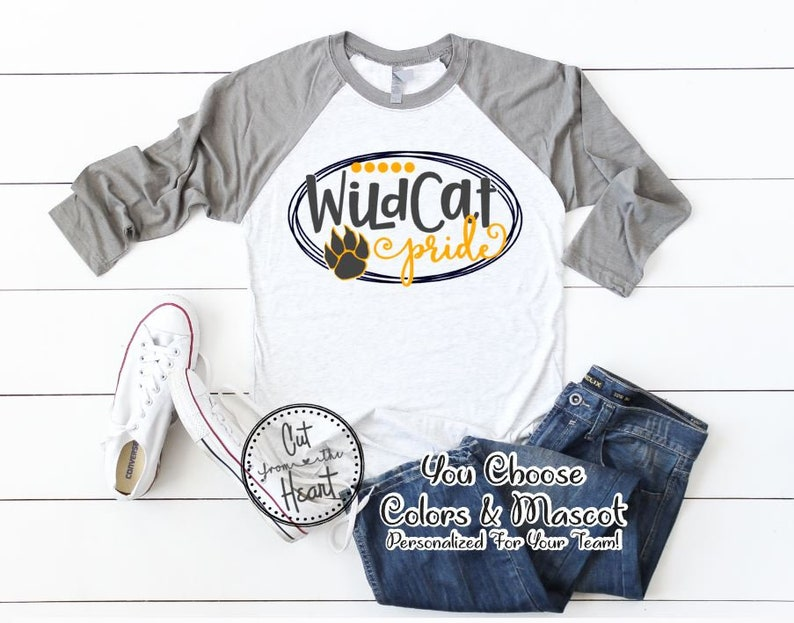 d57fccecf6f School Pride Shirt School Spirit T-shirt Mascot T-shirt