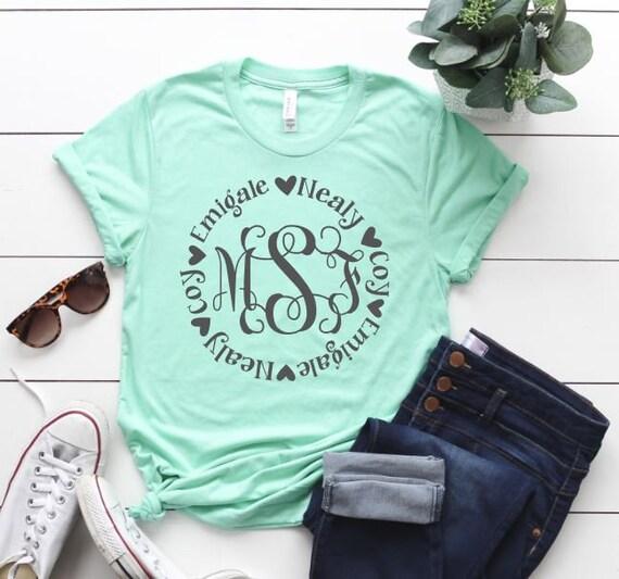 Personalized Shirt For Mom Mother S Monogram Mother S Day Gift Gift For Mom Grandma Shirt New Mom Shirt Mama Shirt