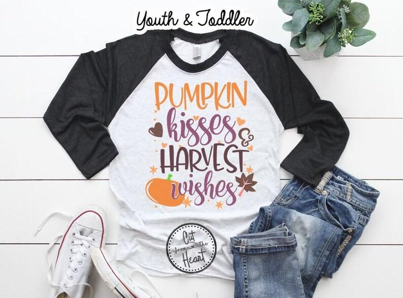 e8e50dc13 Pumpkin Kisses Baseball Tee Girls Pumpkin Shirt Toddler
