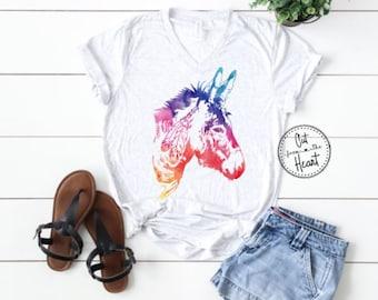 Donkey Tee, Donkey T-shirt, Mini Donkey, Farm Shirt, Farm T-shirt, Country & Western, Mule Shirt, Mule T-shirt, Donkey Gift