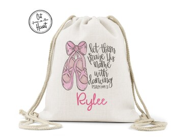 Dance Bag, Personalized Dance Bag, Custom Dance Bag, Cheer Bag, Gymnastics Bag, Cinch Bag Personalized, Drawstring Bag Custom, Dance Gift