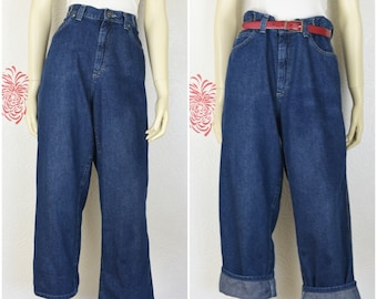 7fd6be9a Vintage Lee Jeans | Wide Leg Jeans | Carpenter Jeans | High Waisted Jeans | Lee  Riveted Jeans | High Rise Jeans | Cinch Waist | SZ 32
