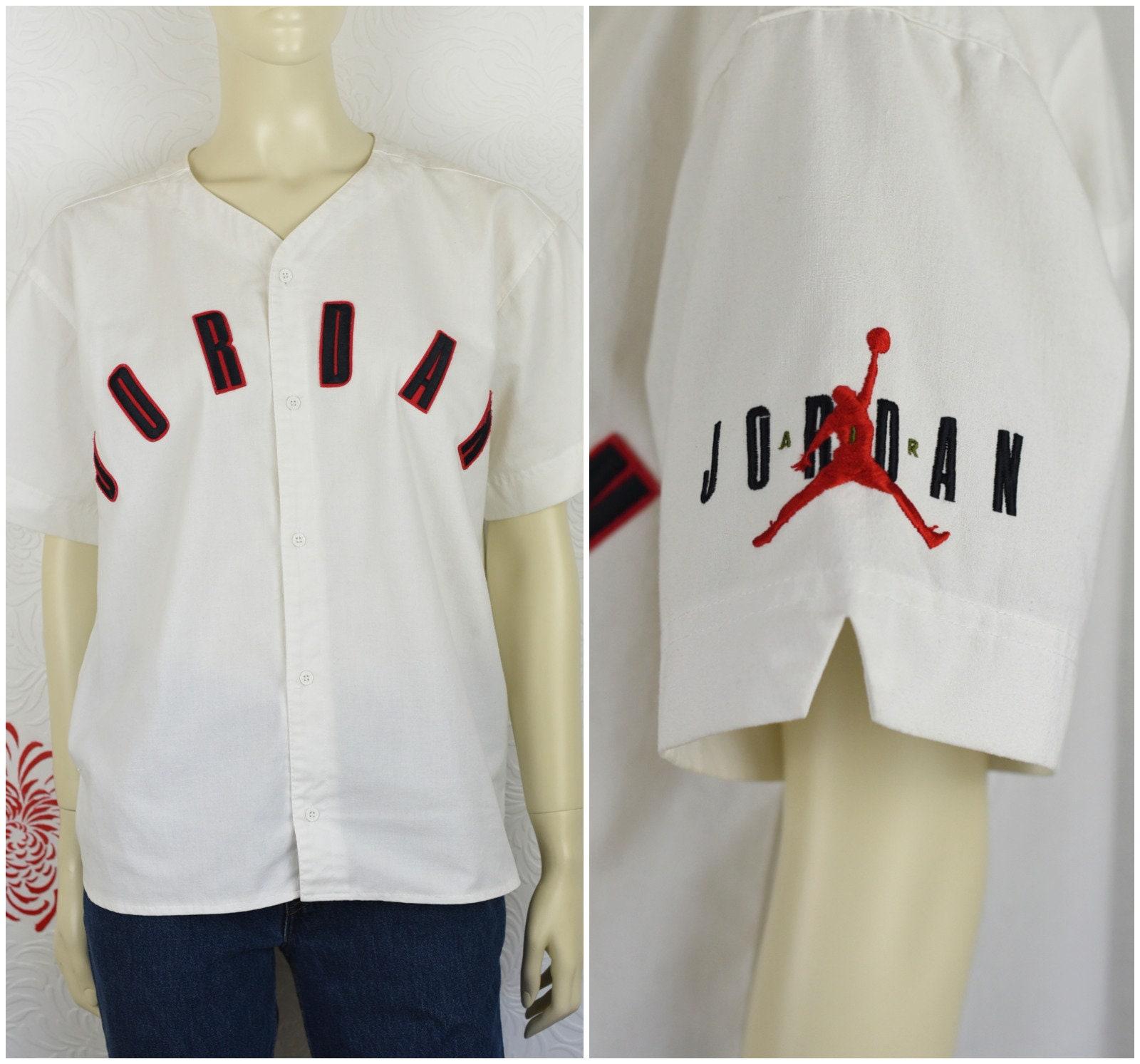 new style 55aa4 d831c Vintage Jordan Baseball Jersey | Nike | Michael Jordan | 23 | Spellout |  Chicago Bulls | Basketball | Air Jordan | 90s Streetwear | Jumpman