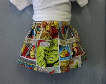 Marvel Avengers Comic Panel Skirt (Multiple Sizes Available)