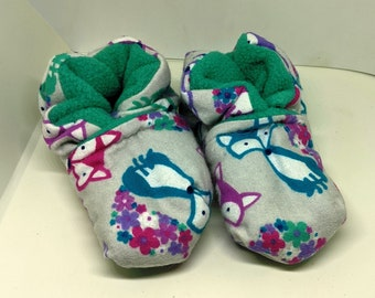 Cute Fox Baby Booties One Size Fits Most 0-18 months
