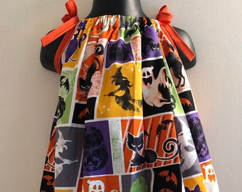 Witches, Pumpkins, Cats & Bats, Oh My! Dress (Multiple Sizes Available)
