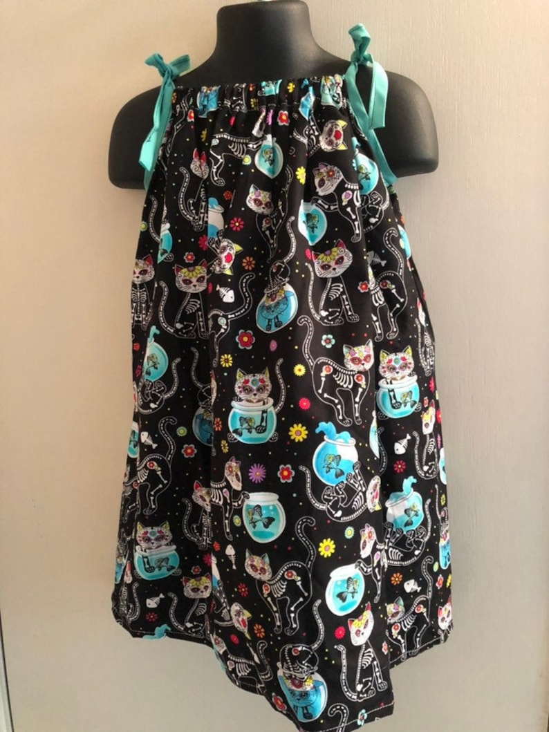 Cat Sugar Skull Dress Multiple Sizes Available image 0