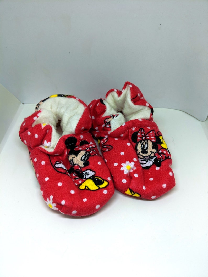 Minnie Mouse Baby Booties One Size Fits Most 0  18 Months image 0