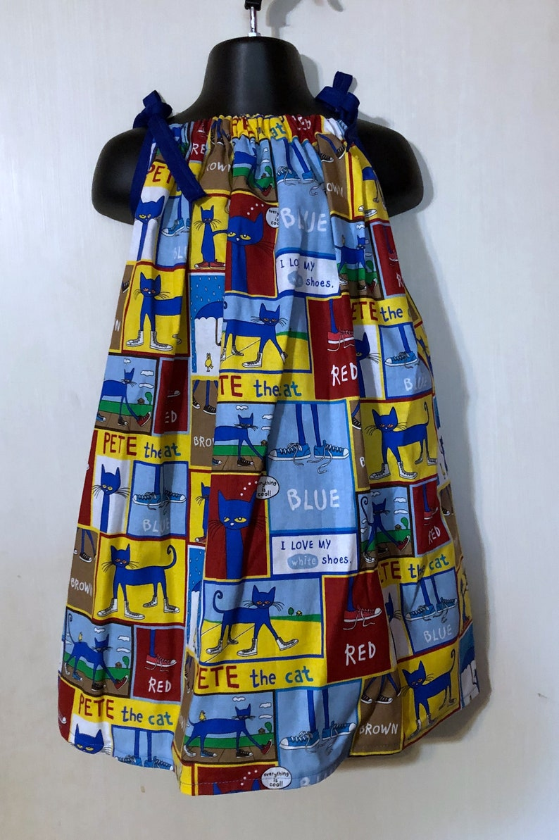 Pete the Cat Sundress Multiple Sizes Available image 0