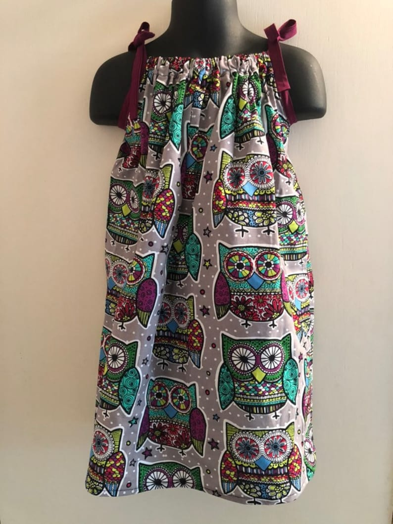 Sugar Skull Owl Dress Multiple Sizes Available image 0