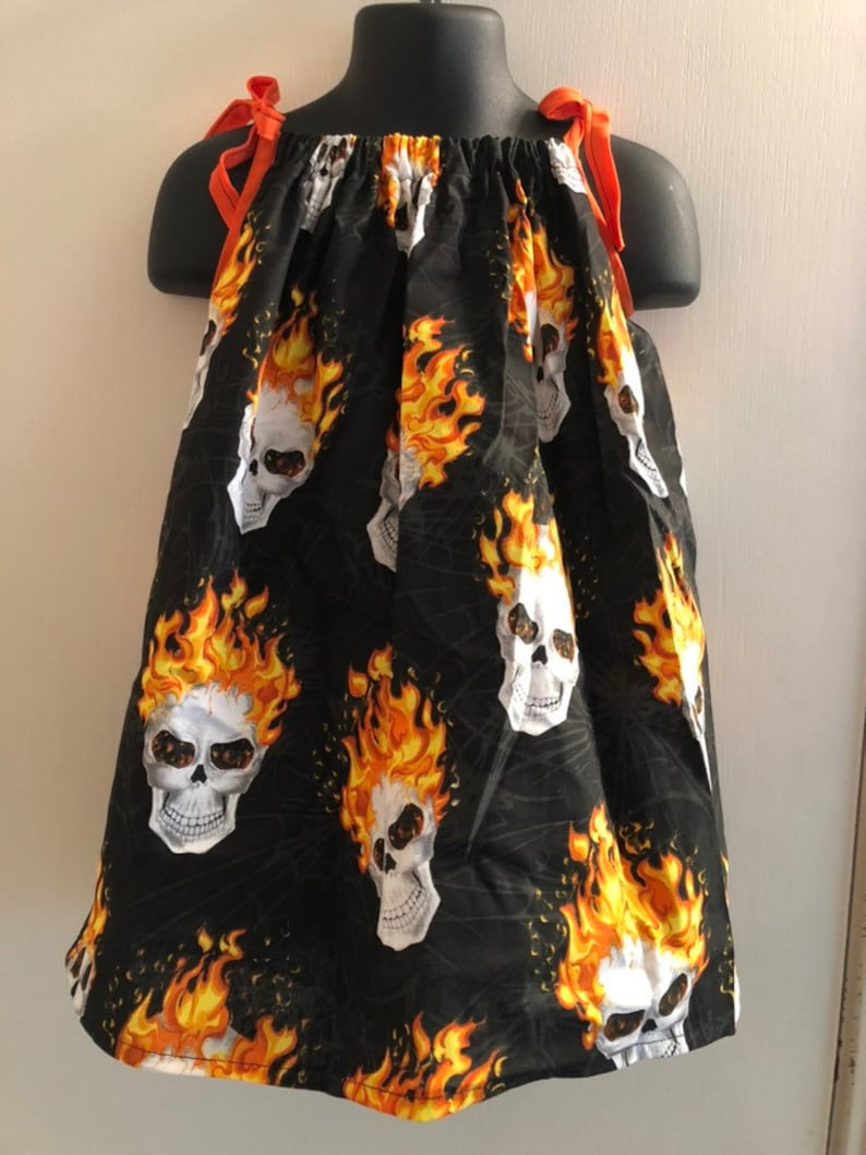 Flaming Skull Dress Multiple Sizes Available image 0
