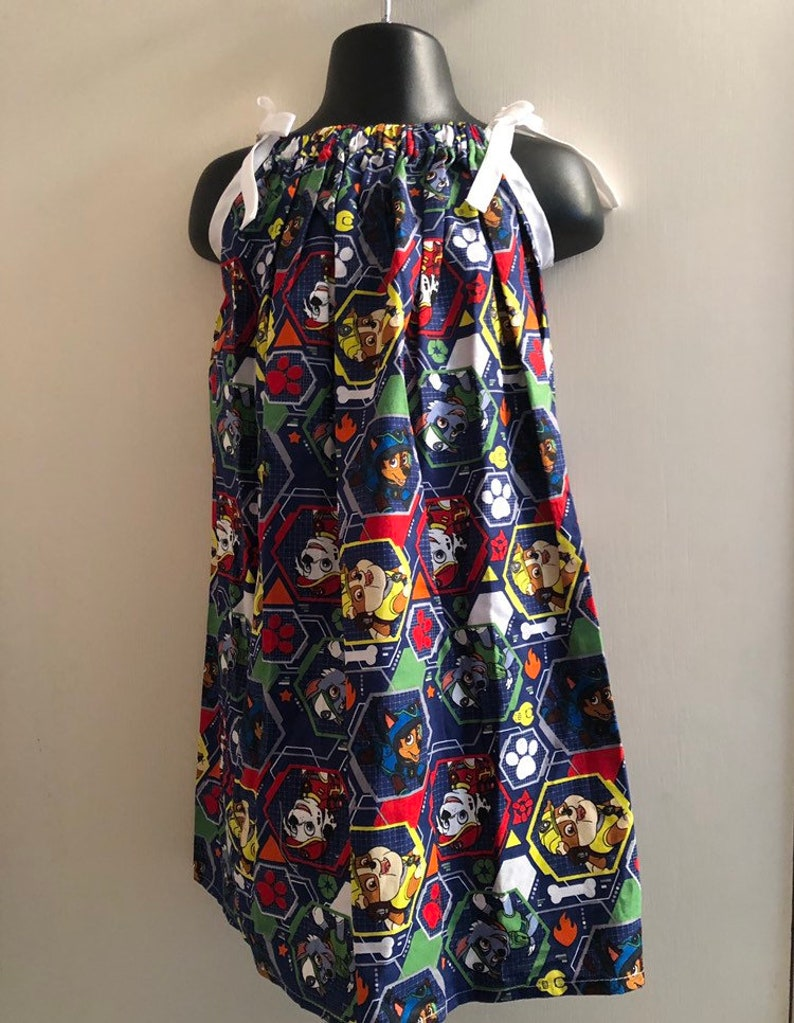 Paw Patrol Blue Hexagon Character Dress Multiple Sizes image 0