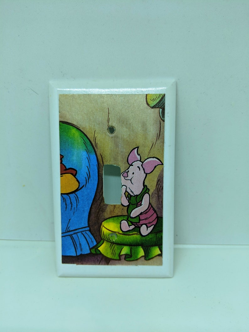 Winnie the Pooh Piglet Light Switch Cover image 0