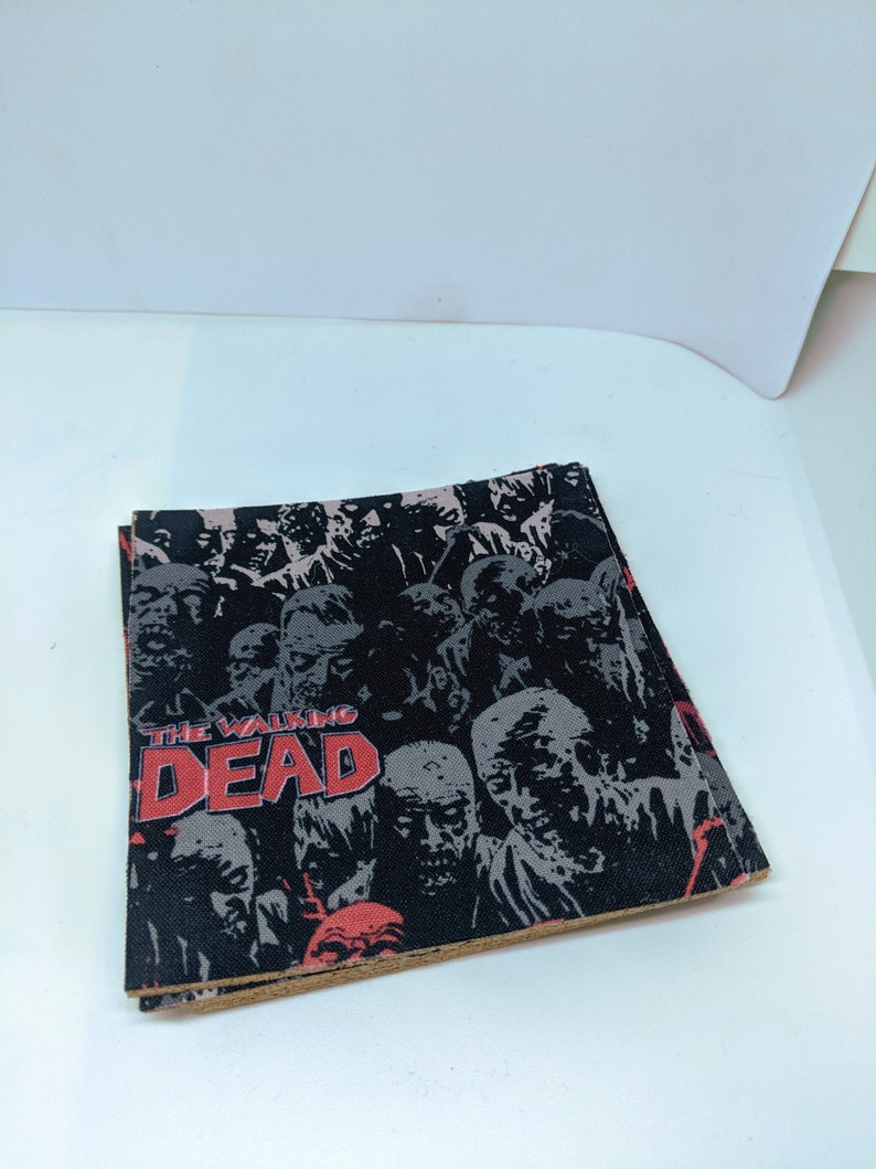 The Walking Dead Cork and Fabric Coasters  Set of 4 image 0