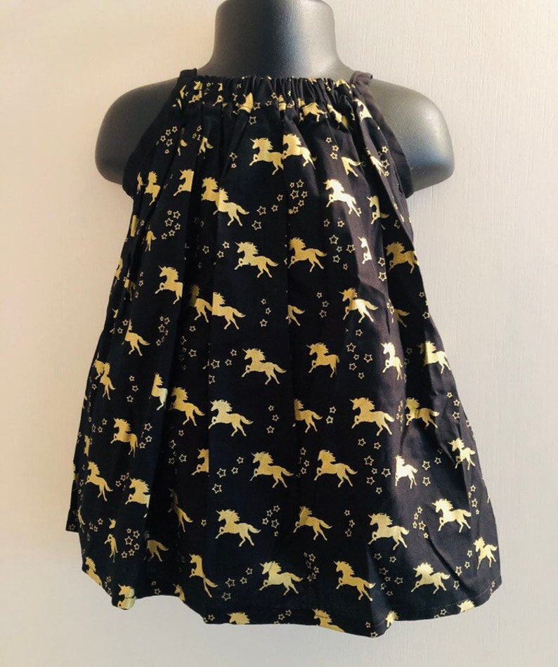 Gold Unicorn Sundress Multiple Sizes Available image 0