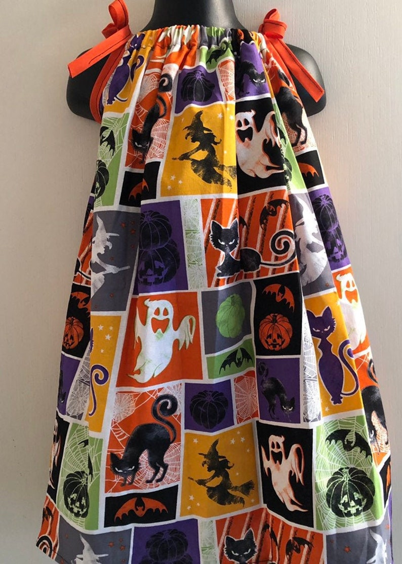 Witches Pumpkins Cats & Bats Oh My Dress Multiple Sizes image 0