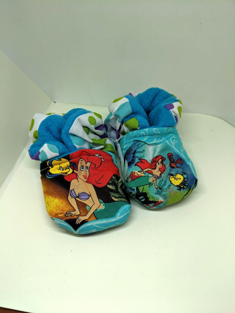 The Little Mermaid Baby Booties One Size Fits Most 0  18 image 0