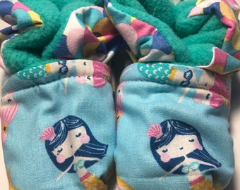 Mermaid Baby Booties (fits most 0 - 18 months)