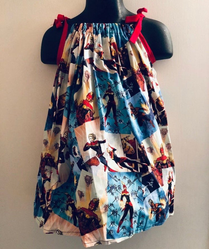 Captain Marvel Sundress Multiple Sizes Available image 0