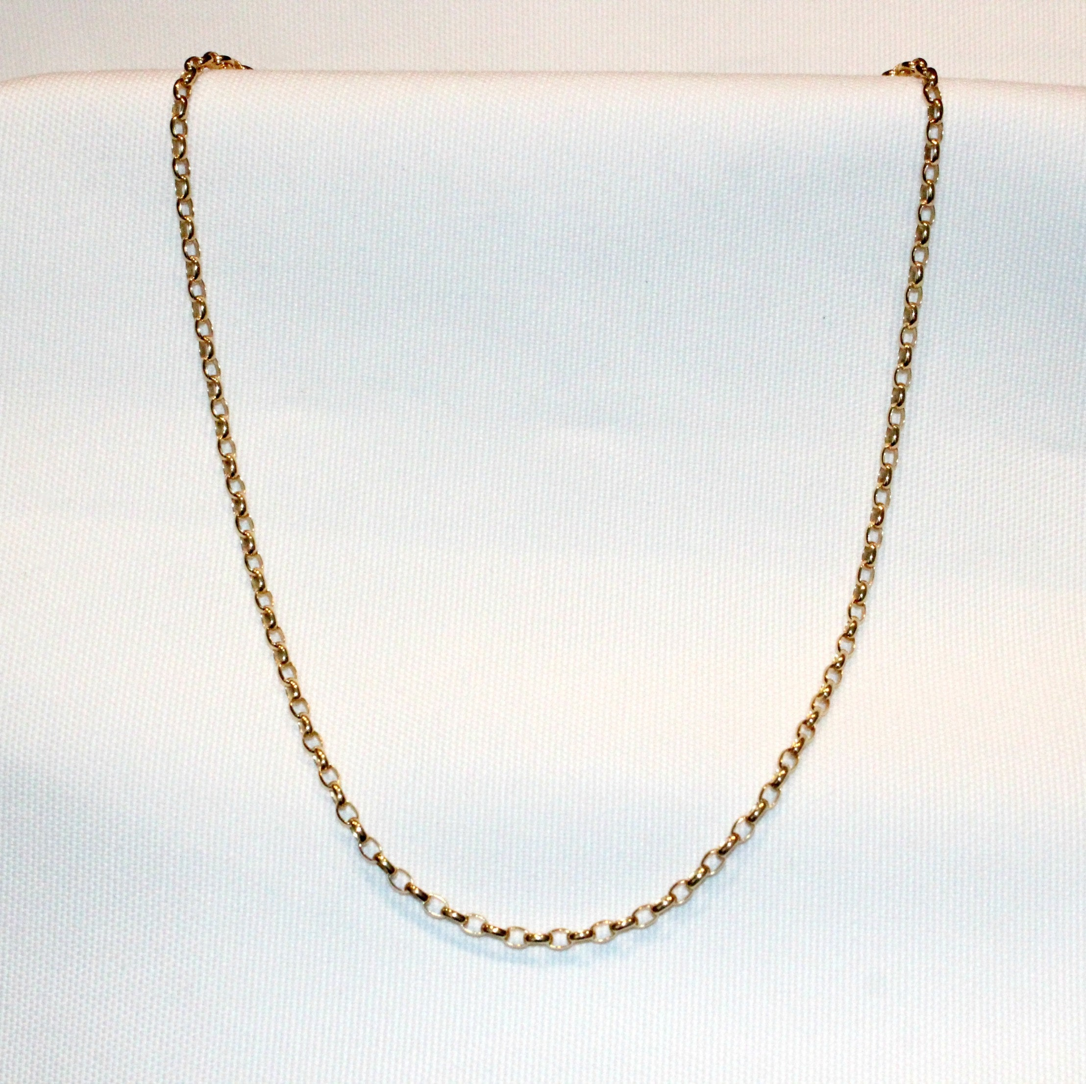 Details about  /9ct Solid Oval Belcher Chain 85 Gauge