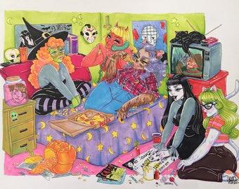 LARGE Fright Night Prints