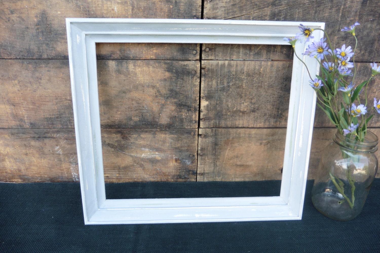 Mano pintada abierta madera 12 x 14 marco ~ dificultades gris claro ...