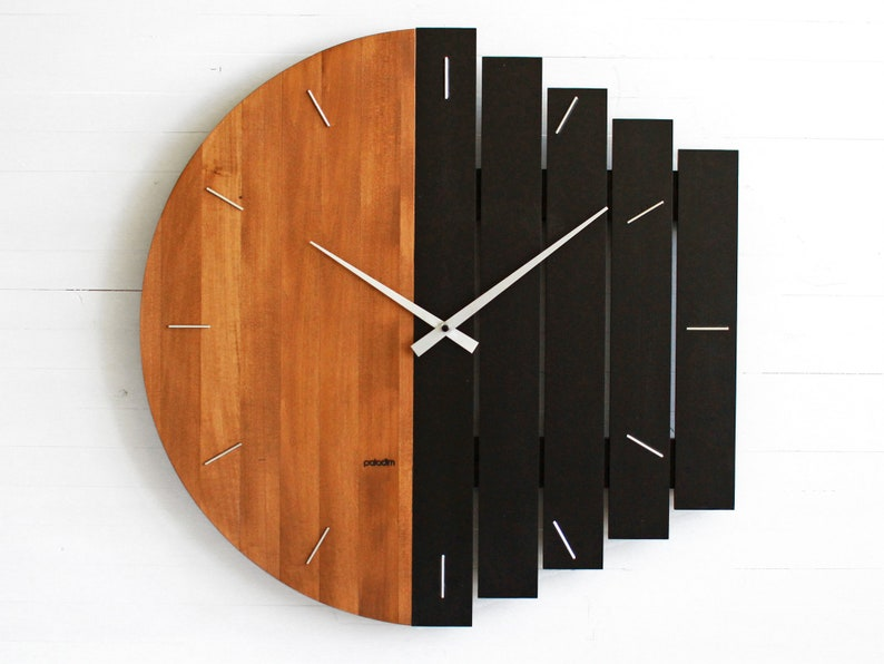 60cm / 24 Oversized Industrial Style Wall Clock Big image 1