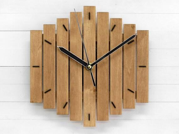 Wand Uhr, Eiche Dekor, rustikale Wanduhr, Wohnzimmer, Wanduhr, Wand-Dekor,  Büro-Uhr, braun Uhr \