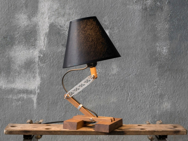 Industrial Table Lamp, Wooden Lamp, Bedside Lamp, Modern Table Lamp, Pair  Of Home Lamps, Industrial Style, Bedroom Night Lamp, Family Gift