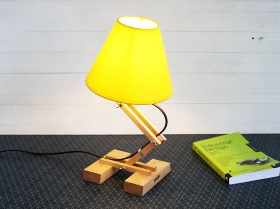 Lampada in legno lampada di design camera da letto lampada etsy