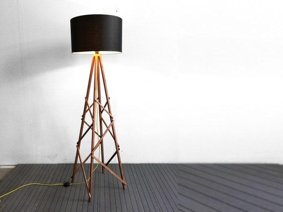Vloer lamp kula oversized houten industrielamp moderne etsy