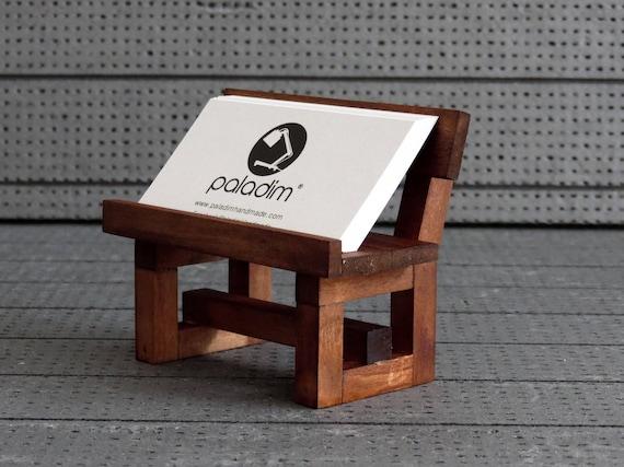 Card holder office display wooden business card holder desk etsy image 0 colourmoves