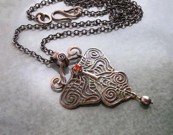 Ooak Copper Pendant Copper Jewelry Handmade Copper Necklace Etsy