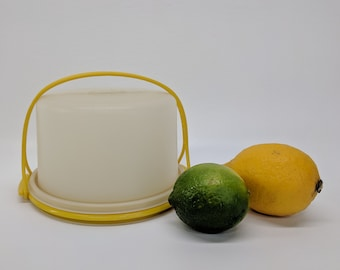 Tiny Tupperware Toy Cake Carrier - TupperToy Sunny Yellow