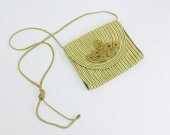 Vintage bag evening Bag gold handmade
